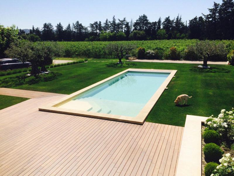 Construction d'une piscine à Lagnes par Luberon Bâtiment